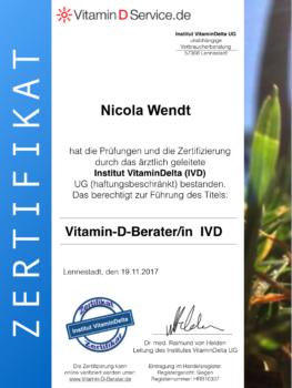 Zertifikat Vitamin D